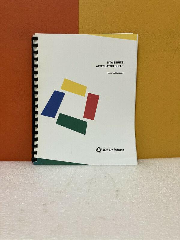 JDS Uniphase MTA Series Attenuator Shelf User