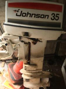 35 Johnson Seahorse Electric Start