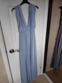 Debenhams Maxi Multiwear Light Blue Size 10 Dress