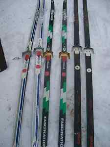 2 pairs of Adult X-C waxed skis for sale.