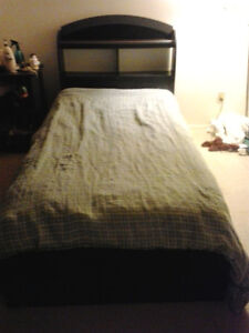 Single Mattress, Sheets and Captain Bed