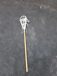 Wooden lacrosse stick