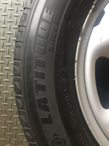 Winter Tires Michelin Latitude 235-65-17 with Acura Rims