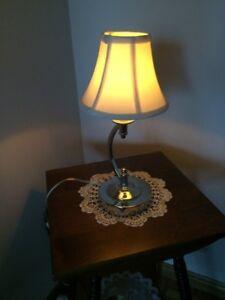 CHROME BEDROOM LAMP