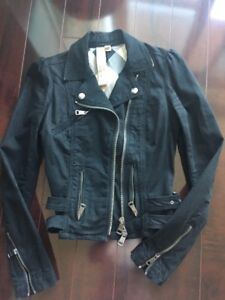 Burberry Brit black biker jacket - $250