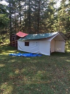 Here is a  hunting camp in a bag - Delux Wall tent with stove