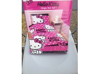 Hello kitty single duvet cover - new