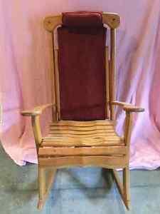 Hand made rocking / massage chair