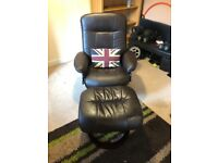 Leather swivel/recline chair