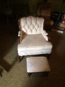 Chair with footstool