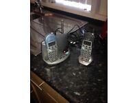 Cordless telephone x2