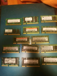 Got some ddr 1 an dd2 laptop ram for sale as all $30.00