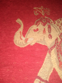 Red elephant rug