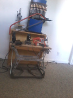 Wood working and wood carving set up
