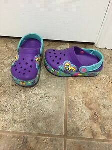 Light up croc shoes