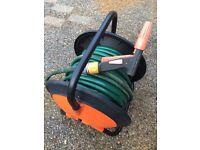Heavy duty hose cart & 100ft hose & spray gun