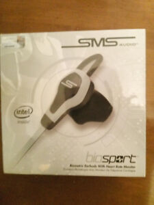 Brand New Sealed SMS BioSport Headphones HeartRate Monitor