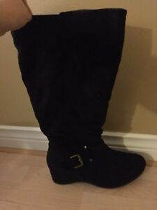 Calf high plus size boots for sale