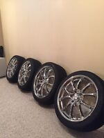 """Awesome rims and tires 18"""" great deal"""
