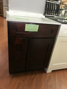 """24"""" Espresso solid wood vanity cabinet on CLEARANCE!!!"""