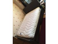 Kingsize bed with 4 underbed storage & mattress king size