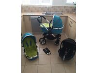 Icandy peach travel system in sweetpea