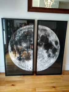NEW!!! 2 panel moon photo frame picture lune
