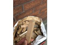 Kindling wood. Fire wood. Log burner. Logs.