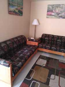 Must Sell Beautiful solid wood 4 piece sofa set $300 obo
