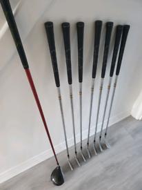 Golf clubs bag titleist irons driver