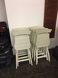 10 IKEA chairs with cushions