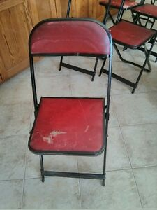 Vintage COOEY Folding Card Table with Chairs (7) Windsor Region Ontario image 4