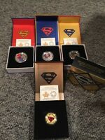 Superman full set of rcm coins inc $100 gold coin rare find