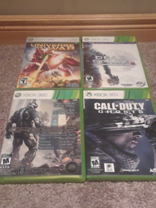 XBox360 games: Dead Space 3, Univ at War, Crisis 2, CofD: Ghosts