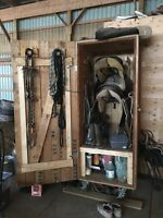 Well built, sturdy tack locker on wheels