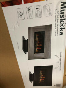 "* NEW* in BOX  36"" Muskoka Fireplace with Reversible frame!!!"