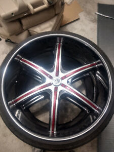 selling 4tires with 26in Lexani rims