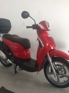 Aprillia Scarabeo touring scooter