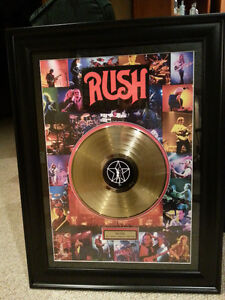 RUSH GOLD RECORD ART