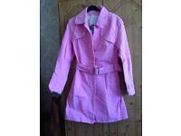 Ladies beautiful ted baker pink coat LIEK new