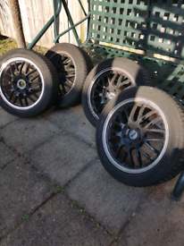 Winter tyres with alloy wheels