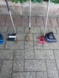 Golf putters plus 1 wedge