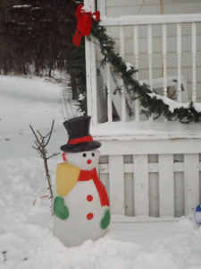 40'' Blow Mold/Hard Plastic Lighted Snowman