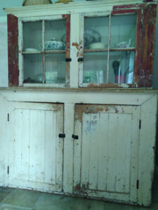 Antique armoire, bed, chest, desks, armchairs and sofa