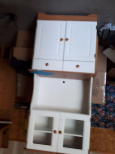 Kitchen free standing cupboards and TV stands