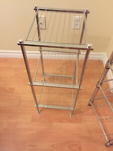 Small wire shelving unit