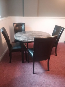 5 Piece Dinette Set in Black & Grey by Signature Design by Ashle