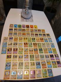 Old pokemon cards wotc base set, fossil, jungle, team rocket