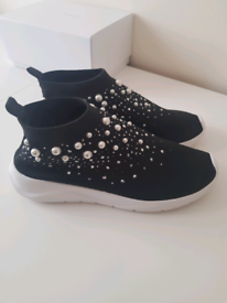 Ladies beaded trainers