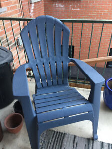 Plastic outdoor chair- $15